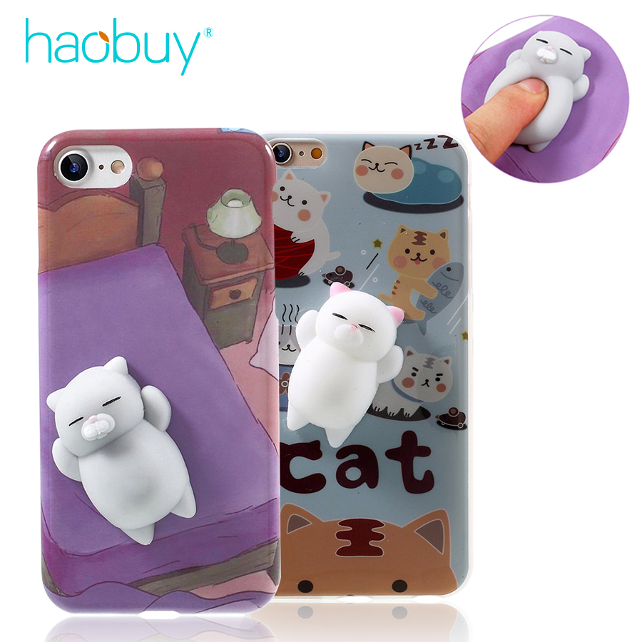Squishy Cat Phone Case Iphone 8 : Phone Case for iPhone 5S SE 5 6 6S plus 3D Cute Soft Silicone Mini Squishy Cat Cover for iPhone ...