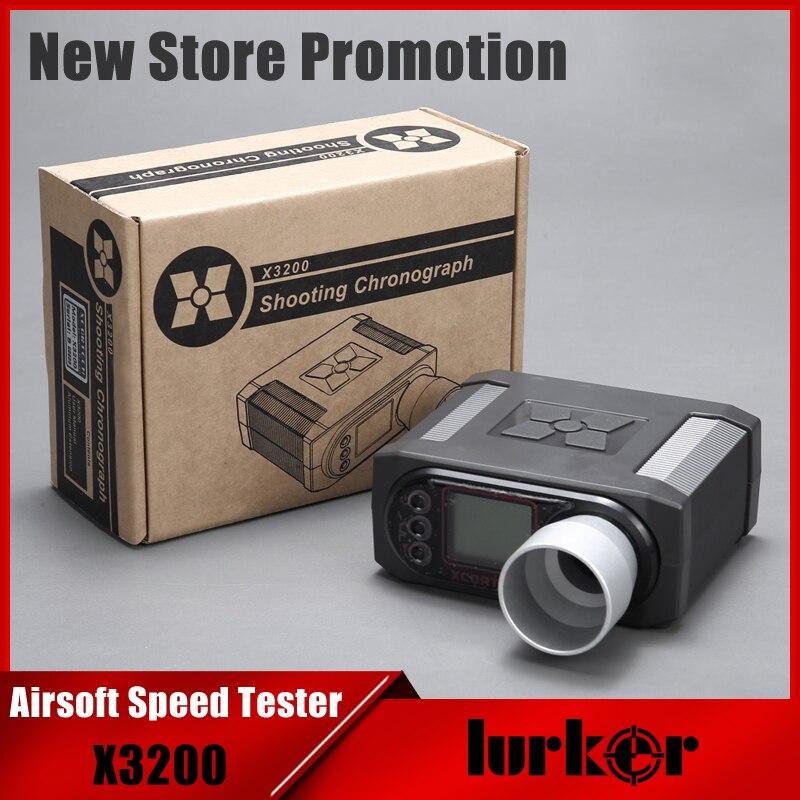 X3200 Airsoft BB velocidad de la bala de tiroteo cronógrafo para caza tiro de