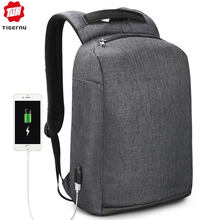 Tigernu New Anti Theft USB charging Backpack Laptop Waterproof Travel Back Pack Male Casual Rucksack For Man(China)