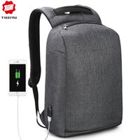 Tigernu New Anti Theft USB charging Backpack Laptop Waterproof Travel Back Pack Male Casual Rucksack For Man