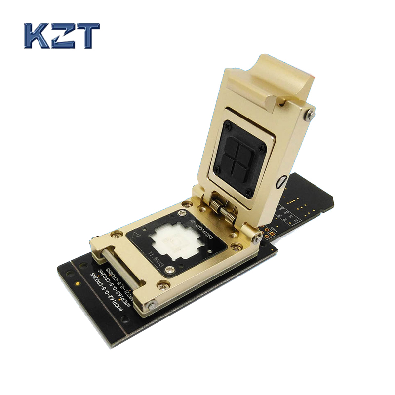 eMMC test socket to SD Interface Nand flash pogo pin BGA153/169 Reader Size 11.5x13mm Pitch 0.5mm smart phone date recovery