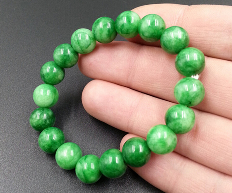 10mm 12mm 16mm Green Beads Bracelet Fashion Link Chain Gem Stone Lucky Jewelry Men Women In Strand Bracelets From Accessories On