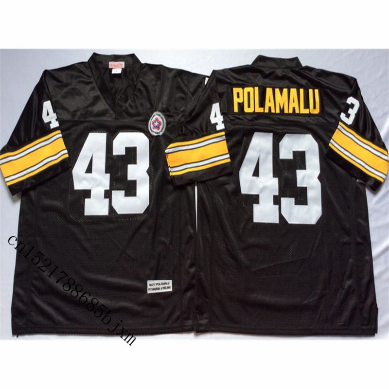 купить Mens Retro Troy Polamalu Stitched Name&Number Throwback Football Jersey Size M-3XL по цене 1982.09 рублей