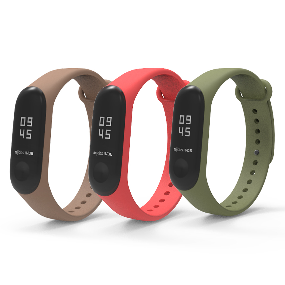 Image 3 - Bracelet Mijobs Mi Band 3 4 Strap Bracelet Silicone Wristband Miband 3 Strap Smart mi band3 Wrist for for Xiaomi Mi Band 3 Strap-in Smart Accessories from Consumer Electronics