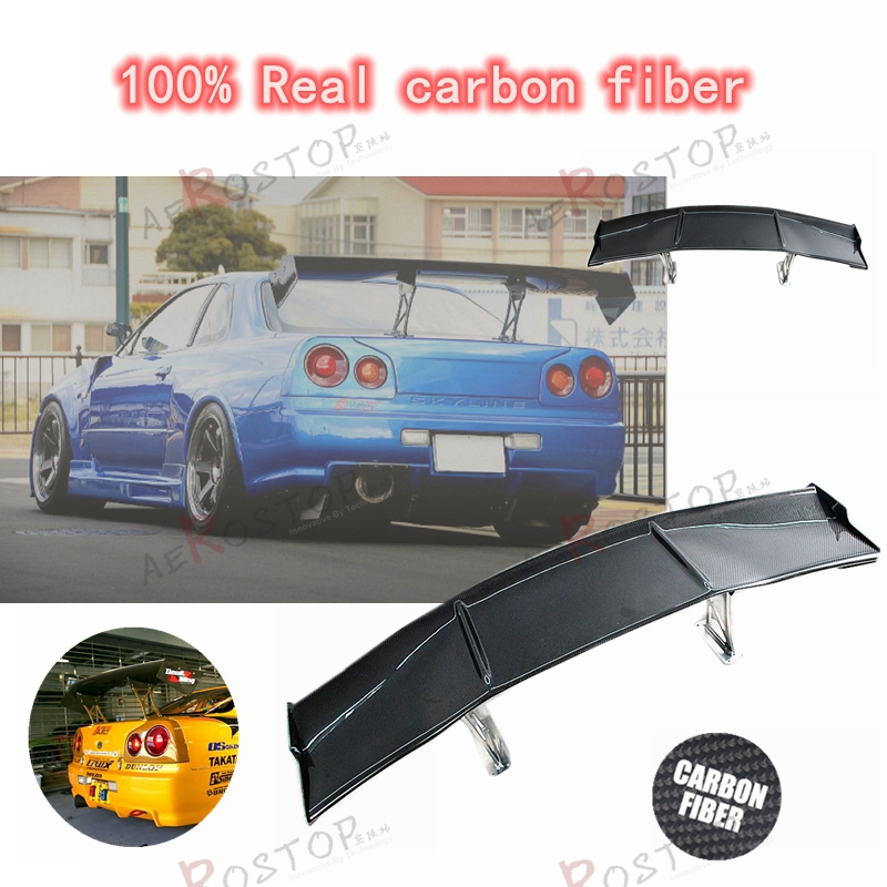 1set r34 gtr auto select style gt wing carbon fiber in spoilers wings from automobiles. Black Bedroom Furniture Sets. Home Design Ideas