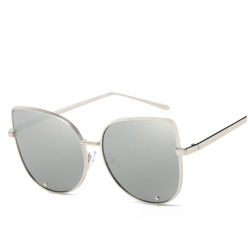 343abc42ac461 Estilo Olho de Gato Óculos De Sol Das Mulheres Designer de Marca de alta  Qualidade Frame Da Liga de Óculos de Proteção da Lente Do Espelho Reflexivo  Do ...