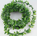 Free shipping Baby Leaf Boxwood Garland 24ft Wedding Party Packaging Garden Party Vintage Party Decorations Shabby Chic