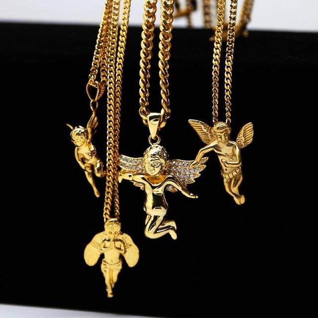 Goldkette mit anhänger herren  Aliexpress.com : 2017 Hiphop Schmuck Gold Kette Halskette Für ...