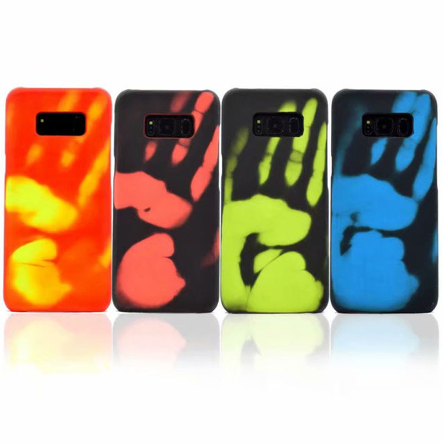 US $4 74 5% OFF|S8 Plus TPU Thermal Induction Color Changing Case For  Samsung Galaxy S8 S8 Plus S7 S6 edge J7 J5 2016 Heat Sensor TPU Back  Cover-in