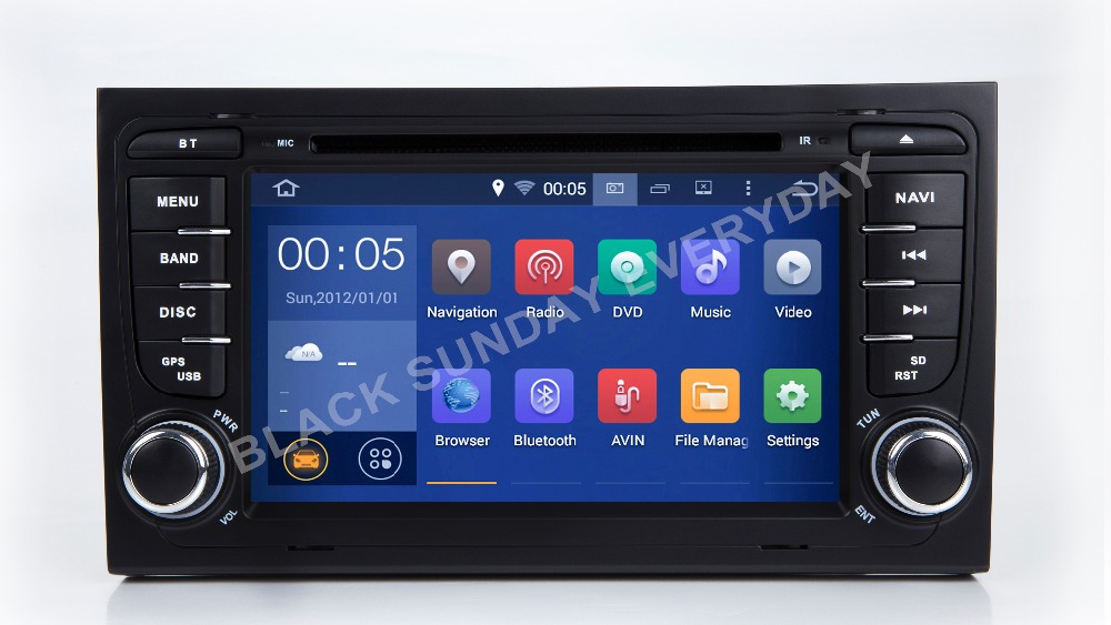 In Stock 7IPS 1024*600 HD 2 Din Android 8.1 Car DVD Player for Audi A4 2002 2007 S4 RS4 8E 8F B9 B7 Wifi 4G 4G Ram Radio Canbus