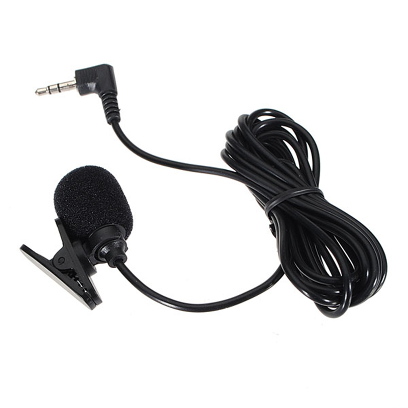 New Fashion 3.5mm Hands Free Clip On Mini Lapel Microphone Studio For Laptop Desktop Notebook