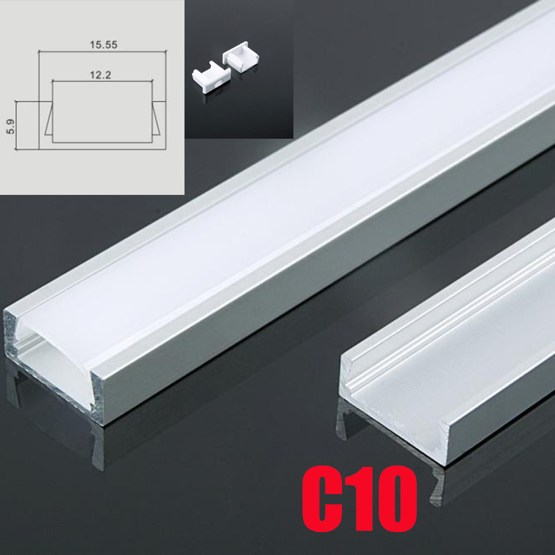 Led Lighting Hot Sale 8pcs Dhl 1m Led Strip Aluminum Profile For 10mm Pcb 5050 5630 Led Strip Housing Aluminum Channel With Cover End Cap And Clips Available In Various Designs And Specifications For Your Selection