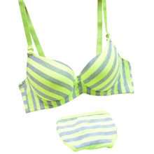 Supply 2017 new Lolota cotton Summer Academy wind light stripes 3-breasted bamboo carbon fiber underwear bra suits cheap price