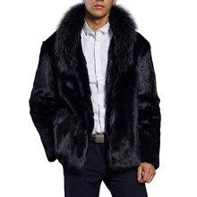 2018 Outono Inverno Moda Faux Fur Coat Casaco Peludo Keep Warm Plush  Casacos Dos Homens Novos de Luxo Para O Sexo Masculino De P.. 304db6050e9