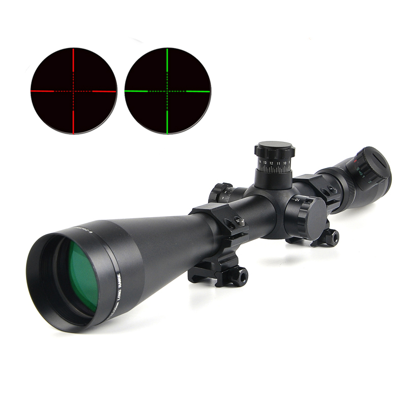 6-24x50 M1 Riflescope Adjustable Red Green Mil-Dot Reticle Optic Sight Rifle Scope Tactical Scopes for Outdoor Caza цена