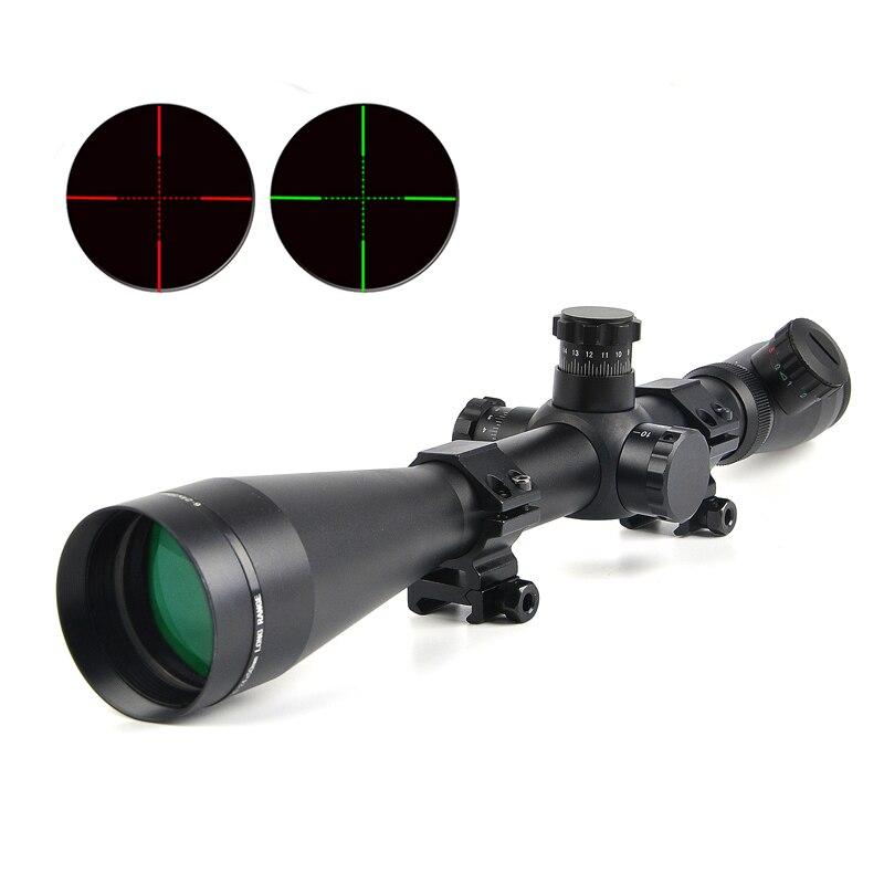 6-24x50 M1 Ajustável Red Green Mil-Dot Retículo Riflescope Mira Óptica Rifle Scope Tactical Scopes para Ao Ar Livre Caza