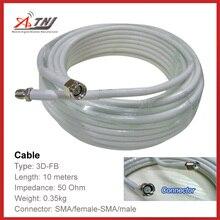 Yeni satış! En kaliteli 10 m ATNJ 3D FB RG58 Sma kadın/SMA Erkek Koaksiyel Kablo