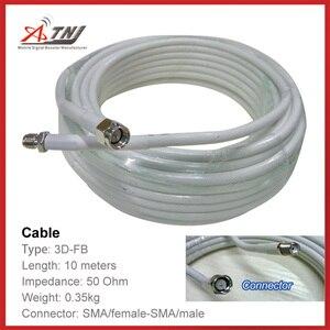 Image 1 - Yeni satış! En kaliteli 10 m ATNJ 3D FB RG58 Sma kadın/SMA Erkek Koaksiyel Kablo