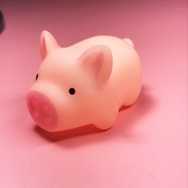 1pc Cartoon cute funny pig doll child toy bathing water decompression venting whole person spoof
