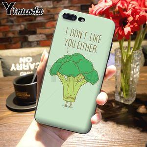 Yinuoda овощи баклажаны брокколи Тыква помидор милый телефон аксессуары чехол для iPhone 7plus X 6 6S 7 8 8Plus 5S 11pro чехол