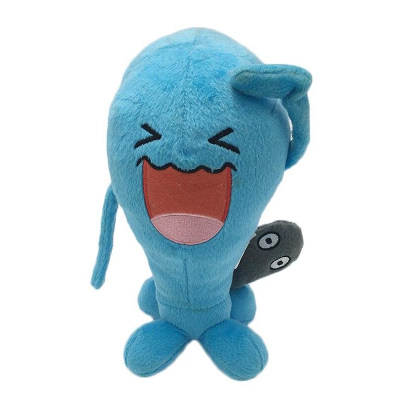 뜨거운 애니메이션 Wobbuffet 봉제 완구 만화 캐릭터 20cm Kawaii 소프트 인형 어린이 인형 완구 어린이 생일 선물