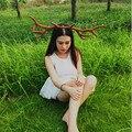 Pascua Espectáculo COSPLAY Del Partido Headwear de Regalo de Navidad Grande Deer Horn Hoop Dance Party Hairbands Accesorios Para el Cabello DIY Handcraft