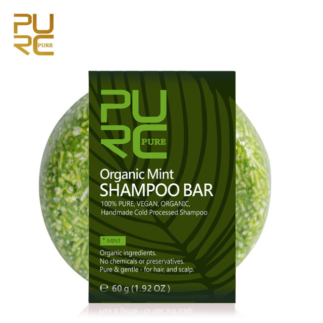 PURC Organic Natural Mint Shampoo Bar 100% PURE and Mint Handmade Cold Processed Hair Shampoo No Chemicals or Preservatives