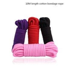 1PC Thick Cotton 10M Length Bondage Rope,Fetish Bodnage Restraints Flirting Adult Sex Love GamesToys For Couples Women Men