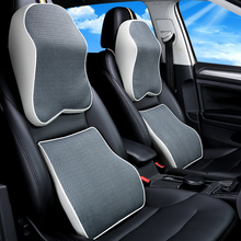 KKYSYELVA 4 Colors Memory Foam Seat Chair Lumbar Back Support Cushion Pillows for Office Home Car Auto Interior Accessories недорого