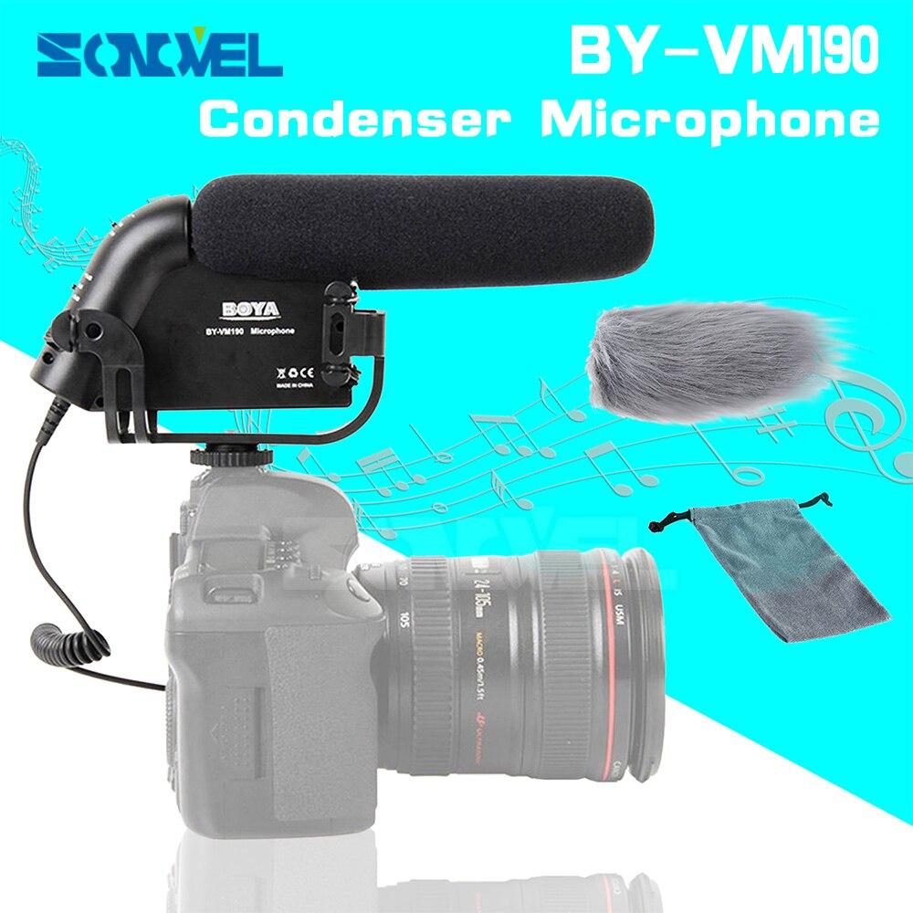 BOYA BY-VM190 3.5mm MIC jack Condenser Microphone For Canon EOS 800D 760D 750D 700D 650D 200D 80D 77D 7D 6D 5D Mark IV boya by vm190 черный