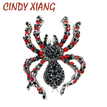 цена на CINDY XIANG Rhinestone Spider Brooches for Women Statement Insect Big Brooches Vintage Fashion Jewelry Exaggerated Brooch Pins