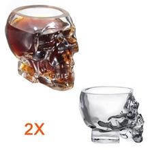 Bar 2 stücke 50 ml Kreative Kristall Schädel Kopf Bone Winebottle Becher Biergläser Wein Glasflaschen