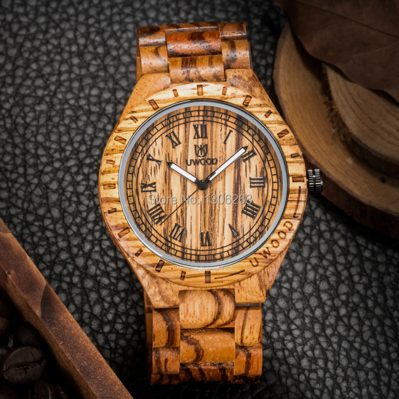 New arrival vintage design men business watch wood brand uwood men business watch vintage retro style