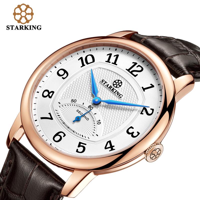 Prix pour STARKING Mode Casual Hommes de Montre-Bracelet Étanche Bracelet En Cuir De Luxe Marque Hommes Quartz Horloge Montres Hommes BM0980