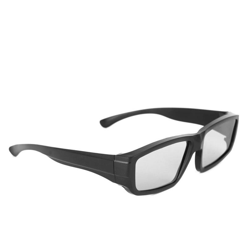 Circular Polarized Passive 3D Stereo Glasses Black H4 For TV Real D 3D Cinemas L15