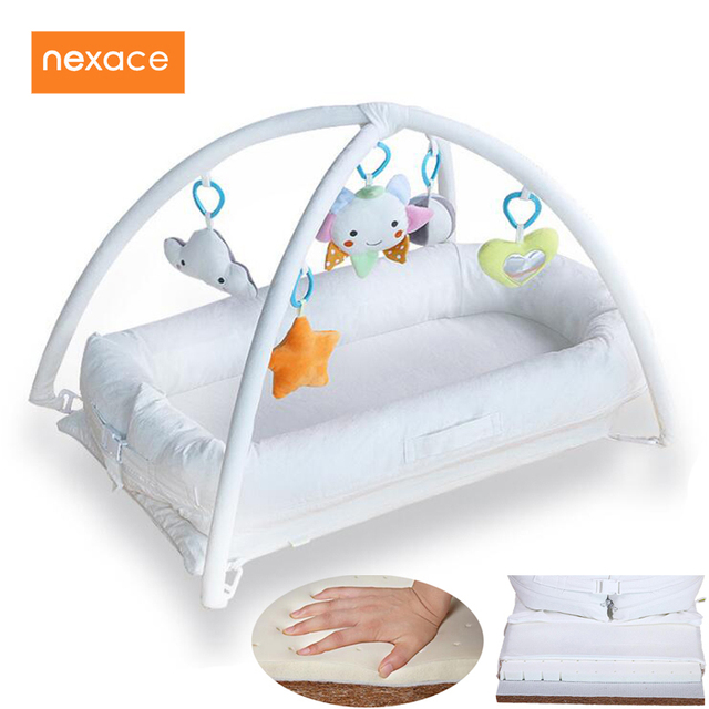Baby Co Sleeping Crib Musical Gym Developing Play Mattress Latex
