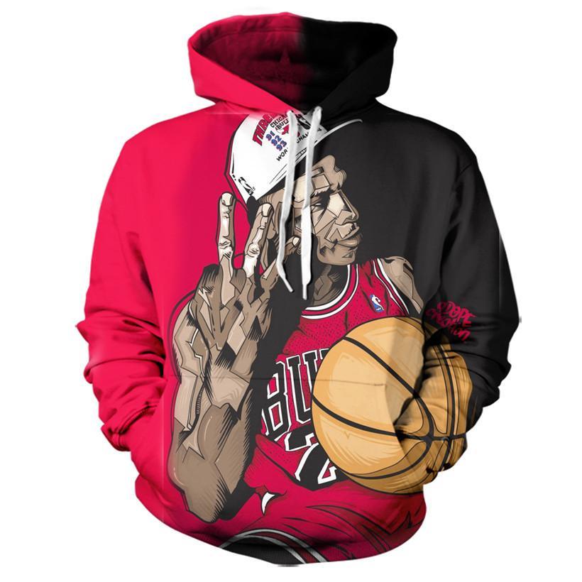 2017 new fashion Cool sweatshirt Hoodies Men women 3D print Chicago Jordan  player tees hot Style 893d21ed5e