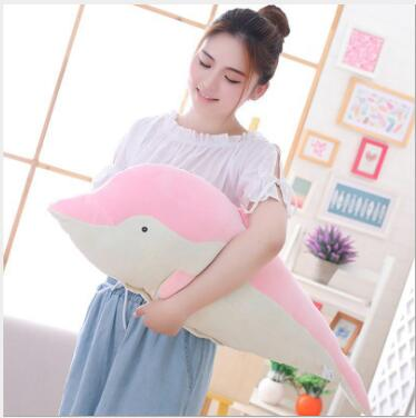 WYZHY Down cotton soft dolphin air conditioning blanket plush toy doll pillow bedside decoration 90cm