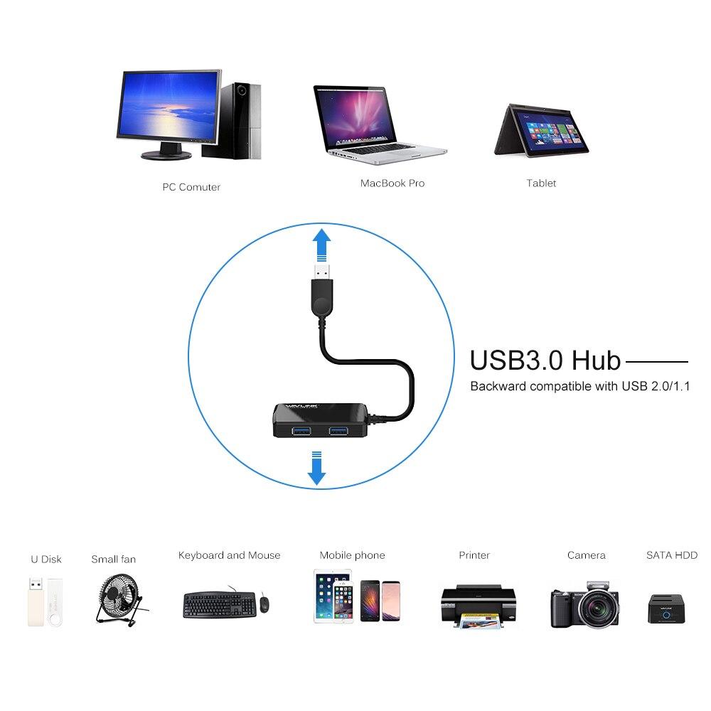 Wavlink USB 3.0 HUB 4 port suure kiirusega 5Gbps USB hubeldusseadme - Arvuti välisseadmed - Foto 3