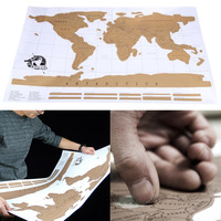 New Multifuncational Travel Scratch Off Map Personalized World Map Poster Traveler Vacation Log Wall Sticker NVIE