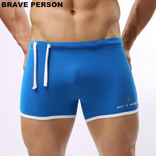 2018 BRAVE PERSON Mens Beachwear Shorts Men Trunks Shorts Soft Nylon Comfortable Thin Fabric Men Board Shorts sexy solid boxers