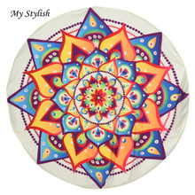 Cheapest Price 2017 New Fashion Round Hippie Tapestry Beach Throw Roundie Mandala Towel Mat Soft Scarves Accessories Feb 17