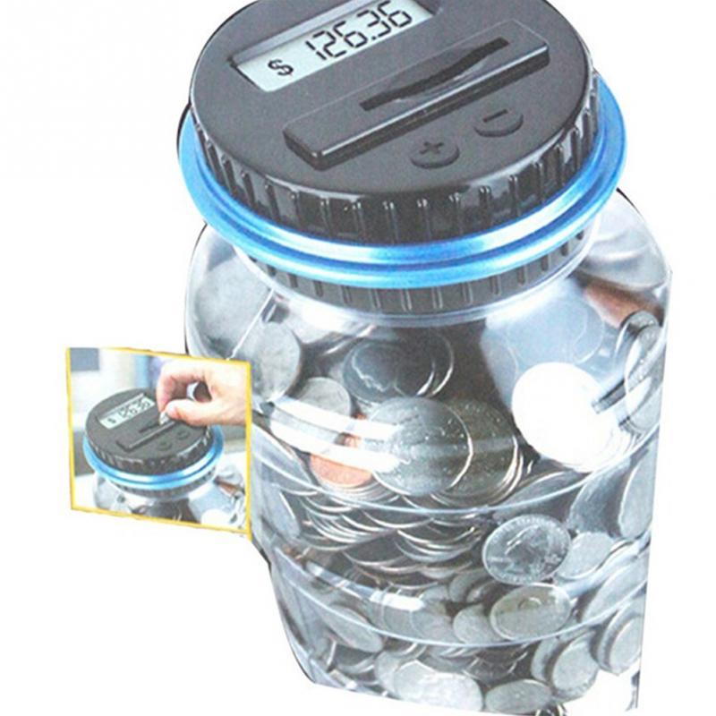 Kids Money Save Can Electronic Usd Digital Money Box Money