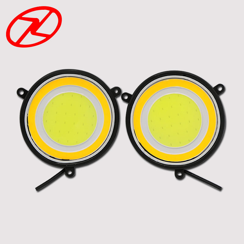 2X High Power 90mm Daytime Running Light 12V White DRL with Yellow Turn Signal for auto car fog driving lamp high quality h3 led 20w led projector high power white car auto drl daytime running lights headlight fog lamp bulb dc12v