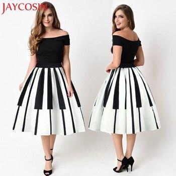 JAYCOSIN 2020 otoño mujer moda Sexy señora Piano teclas impresas falda alta cintura delgada diseño de fantasía apretado falda gonne donna