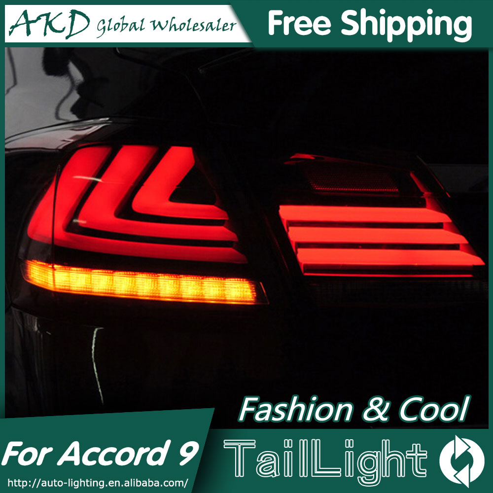 AKD Car Styling for Accord Tail Lights 2014-2015 New Accord9 LED Tail Light LED Rear Lamp LED DRL+Brake+Park+Signal блесна siweida swd 8029 50mm 5g 3531394 03