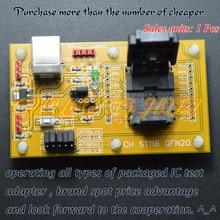 Detect STM8-QFN20 Core board STM8S WSON20 DFN20 MLF20 STM8A STM8L Download seat test socket Programmer adapter Pitch=0.5mm
