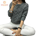 Женская мода 2016 весна свитера основные повседневная вязание зима Пуловеры KB911