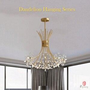 Image 2 - Luces colgantes de la serie Dandelion, lámpara colgante decorativa artística con forma de rama y bola, incluyen bombillas LED G4, vestíbulo, cafetería, sala de estar