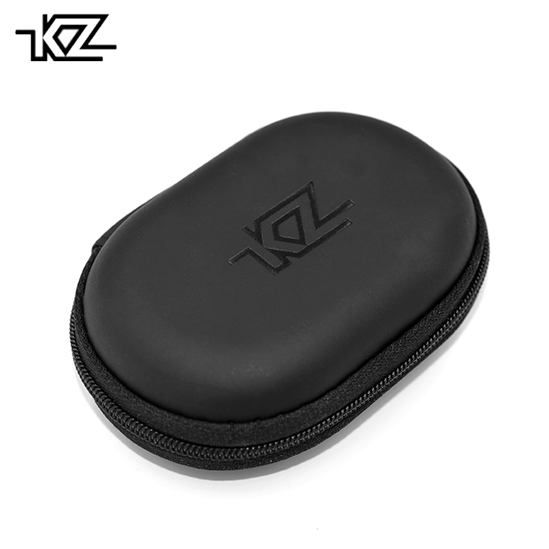 Original KZ Oval Logo Earphone Case PU Zipper Storage Bag Black Portable Hold Storage Box Earphone Accessories fone de ouvido ak kz case bag in ear earphone box headphones portable storage case bag headphone accessories headset storage bag